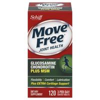 $14.49 Move Free Glucosamine Chondroitin MSM and Hyaluronic Acid Joint Supplement, 120 Count