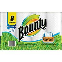 $5.99 Bounty® Select-A-Size Paper Towel Rolls, 2-Ply, 8 Rolls/Case