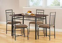 $109.00 Mainstays 5-Piece Wood and Metal Dining Set