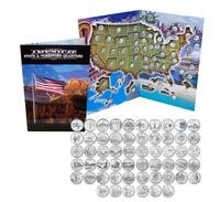 $39.99 1999 - 2009 Complete Uncirculated State Quarter Set with Folder