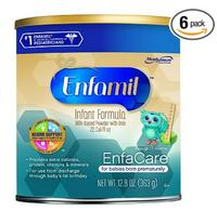 $74.29 Enfamil EnfaCare Infant Formula Powder for Babies Born Prematurely, 12.8 Ounce (Pack of 6)