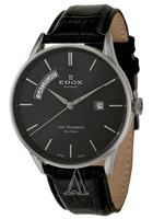 $428.00 Edox Men's Les Vauberts Day Date Automatic Watch 83010-3N-NIN