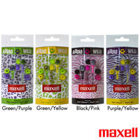 $12.99 8-Pack Of Maxell Wild Things Stereo Earbuds With Inline Microphone & Remote