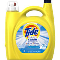 $8.97 Tide Simply Clean & Fresh Liquid Laundry Detergent, 138 fl oz @ Walmart