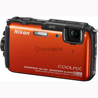 $149.00 Nikon Factory Refurbished COOLPIX AW110 Waterproof 16MP Camera WiFi & GPS (Orange)  + Lightroom 5