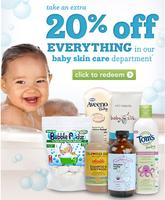 20% OFF Baby Skincare Department @ Drugstore