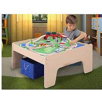 $56.31 45 Piece Wooden Train and Activity Table, & Storage Bin @ Walmart.com