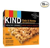 $8.52 KIND Healthy Grains Granola Bars, Oats & Honey with Toasted Coconut, 1.2oz Bars, 5 Count (Pack of 3)