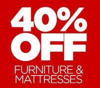 40% Off Select Furnitures and Mattresses @ JCPenney
