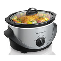 $9.99 Hamilton Beach 4 qt. Stainless Steel Slow Cooker