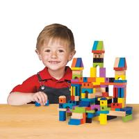 $34.24 T.S. Shure ArchiQuest Master Builder Wooden Building Blocks Set (136-Piece)