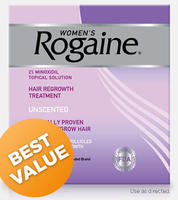 $49.99  Women's ROGAINE Topical Solution 4 month Auto Delivery @Rogaine
