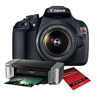 $358.00  Canon EOS Rebel T5 18-Megapixel Digital SLR Camera with the Canon EF-S 18-55mm f/3.5-5.6 IS II Lens Bundle
