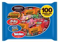 $9.00 Hershey's Candy Halloween Snack Size Assortment 100-Count 36.9-oz. Bag