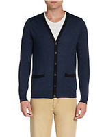 $62.09  Saks Fifth Avenue RED Trimmed Wool-Blend Cardigan