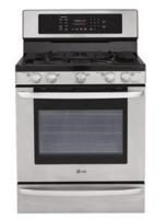 """$749.99 LG - 30"""" Self-Cleaning Freestanding Gas Convection Range - Stainless-Steel"""