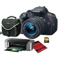 $599 Canon Rebel T5i DSLR Camera with EF-S 18-55 And EF 75-300mm Special Promotional Bundle