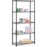 $42.06 Honey Can Do 5-Tier 200 Lb. Capacity Shelving Unit, Black