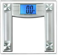 """$23.50 BalanceFrom High Accuracy Digital Bathroom Scale with 4.3"""" Large Backlight Display and """"Step-On"""" Technology, Silver"""
