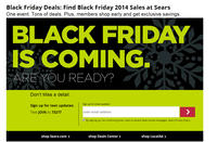 Black Friday Alert! Sears Will Offer Early Access to Black Friday Sale to Members