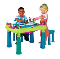 $19.99 Keter Multi-Colored Kids Creative Table and Stools (17184184)
