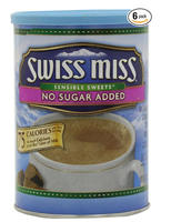 $15.91 Swiss Miss Hot Cocoa Mix, Sensible Sweets, No Sugar Added, 13.8-Ounce Canisters (Pack of 6)