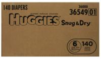 $28.34 Huggies Snug and Dry Diapers, Size 6, Economy Plus Pack, 140 Count