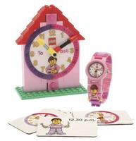 "$14.99 LEGO Girls' 9005039 ""Time Teacher"" Set with Minifigure-Link Watch Watch, Constructible Clock, and Activity Cards"