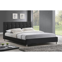 $199.99 Baxton Studio Full Size Vino Modern Bed Frame with Headboard BBT6312