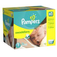 $38.52 Pampers Swaddlers Diapers Size 1 Economy Pack Plus 216 Count