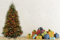 $189.99 7.5-Ft. Christmas Tree with Clear or Multicolored Lights @ Groupon