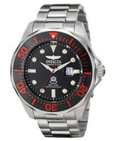 "$99.99 Invicta Men's 14652SYB ""Pro Diver"" Black-And-Red Stainless Steel Watch"