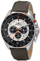 "$99.99 Invicta Men's 15907SYB ""S1 Rally"" Stainless Steel Watch with Grey Leather Strap"