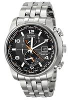 """$269.99 Citizen Men's """"World Time A-T"""" Stainless Steel Eco-Drive Watch, AT9010-52E"""