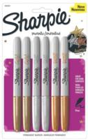 $3.00 Sharpie 1829201 Metallic Fine Point Permanent Marker, Assorted Colors, 6-Pack