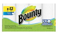$8.99 Bounty Select-A-Size White Paper Towels 8 Giant Rolls