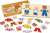 $8.99 Melissa & Doug Wooden Bear Family Dress-Up Puzzle