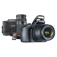 $449.99 Canon EOS Rebel T5 DSLR Camera with 18-55mm and 75-300mm Lenses, Memory Card, and Bag