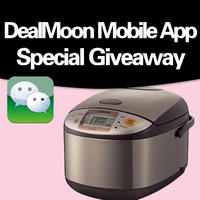 Win a Zojirushi Rice Cooker  and Dealmoon T-Shirts by sharing this deal on WeChat via DealMoon Mobile App for iPhone, iPad, or Android