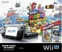 $299.96+ $25 Gift Card 32 GB Nintendo Wii U Deluxe Set with Super Mario 3D World and Nintendo Land