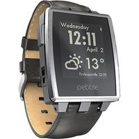 $149.99 Pebble - Steel Smart Watch for Select iOS and Android Devices