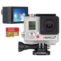 $249.99 GoPro Hero3+ Silver Edition Camera, GoPro LCD Touch BacPac & 16GB Memory Card
