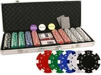 $39.99 Da Vinci 500 Poker Set with Chips, Case, Dealer Buttons, Cards, Cut Cards, and Dice