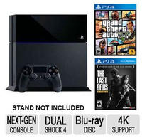 $399.99 Sony PS4 500GB Console + Grand Theft Auto V PS4 Game + The Last of Us Remastered