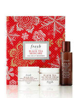 Free 5 Pc Gift + Exclusive Clutch + 20ml Fresh Soy Cleanser  with Fresh Black Tea Skincare Value Set+ Sugar soap purchase @ Neiman Marcus
