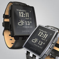 $149.9 Pebble - Steel Smart Watch for Select iOS and Android Devices