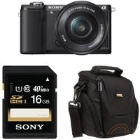 $298.00 Sony Alpha a5000 Interchangeable Lens Camera with 16-50mm OSS Lens