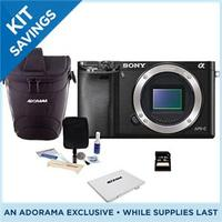 $448.00 Sony Alpha A6000 24.3-Megapixel Digital SLR-Like Camera Bundle  LCE6000