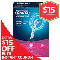 $25.99 Oral-B Professional Care 3000 Electric Toothbrush