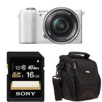 $298 Sony Alpha a5000 Interchangeable Lens Camera with 16-50mm OSS Lens